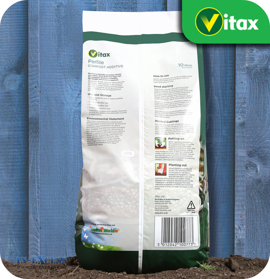 Vitax Perlite Compost Additive - 10 Litres