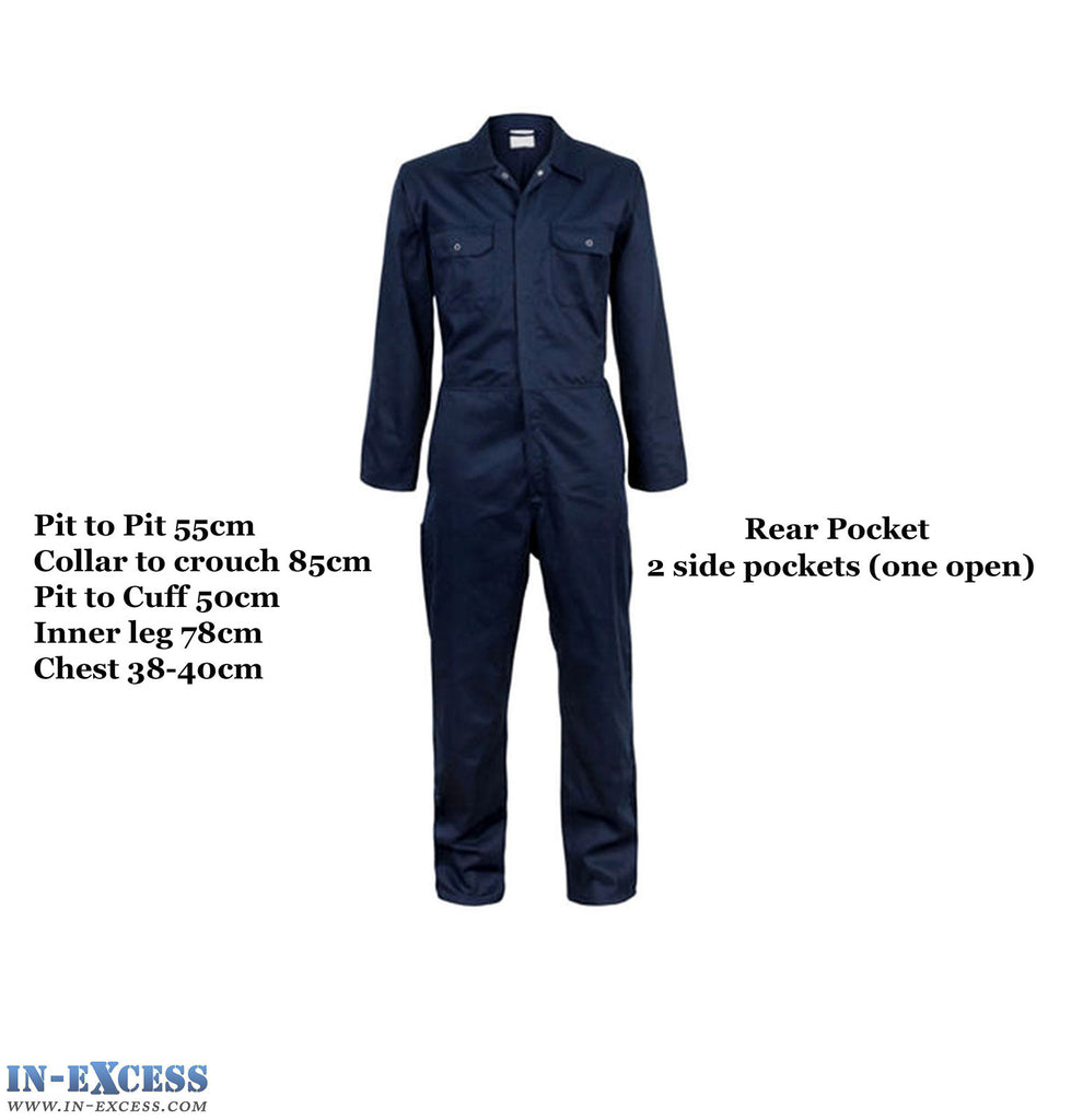 Vitrex Navy Blue Boiler Suit Overalls, Mechanic, DIY, College, Work, Mens - Medium/M