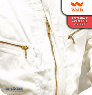Walls 100% Cotton Painters Coveralls Boiler Suit Overalls - White