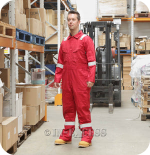 Walls FR Flame Resistant Boiler Work Wear Overalls - Red