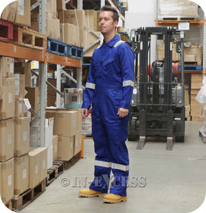 Walls FR Flame Resistant Boiler Work Wear Painters Coveralls  Overalls - Royal Blue