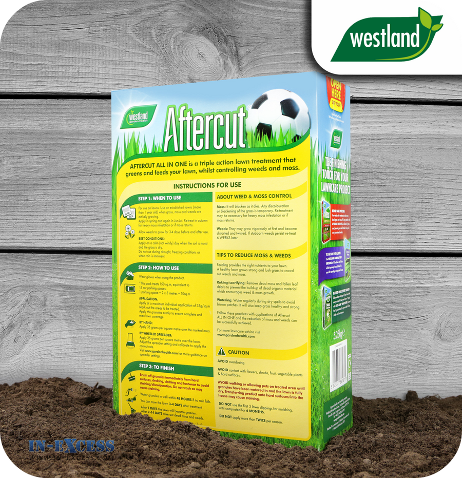 Westland All In One Lawn Feed, Weed & Moss Killer - 5.25kg