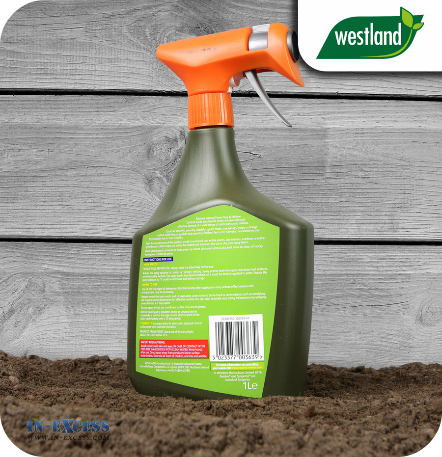 Westland Resolva Natural Power Bug & Mildew Control Spray - 1 Litre