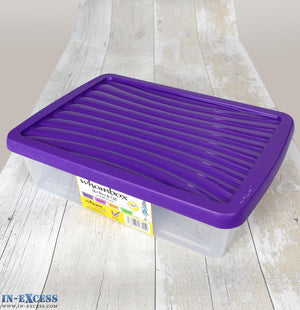 Wham Plastic Storage Box with Lid - 8 Litre - Shallow A4 Paper
