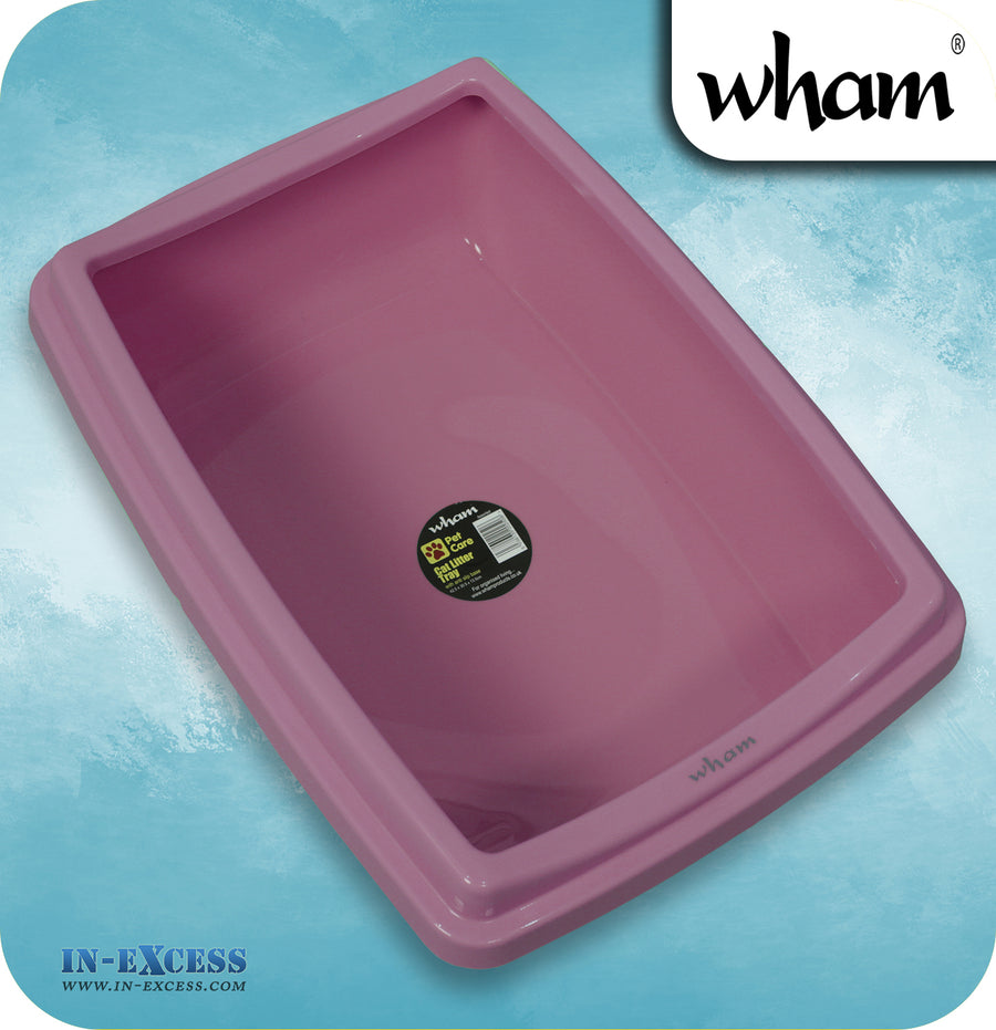 Wham Pet Cat Litter Tray With Anti-Slip Base - Assorted Colours