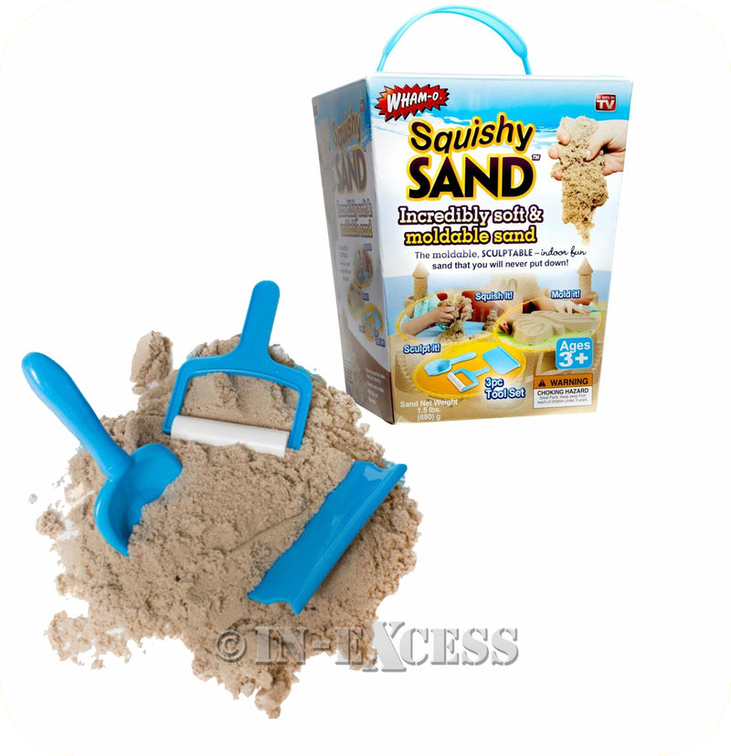 Wham-O Kids Play Mouldable Soft Squishy Play Sand - 1.5lbs (680g)