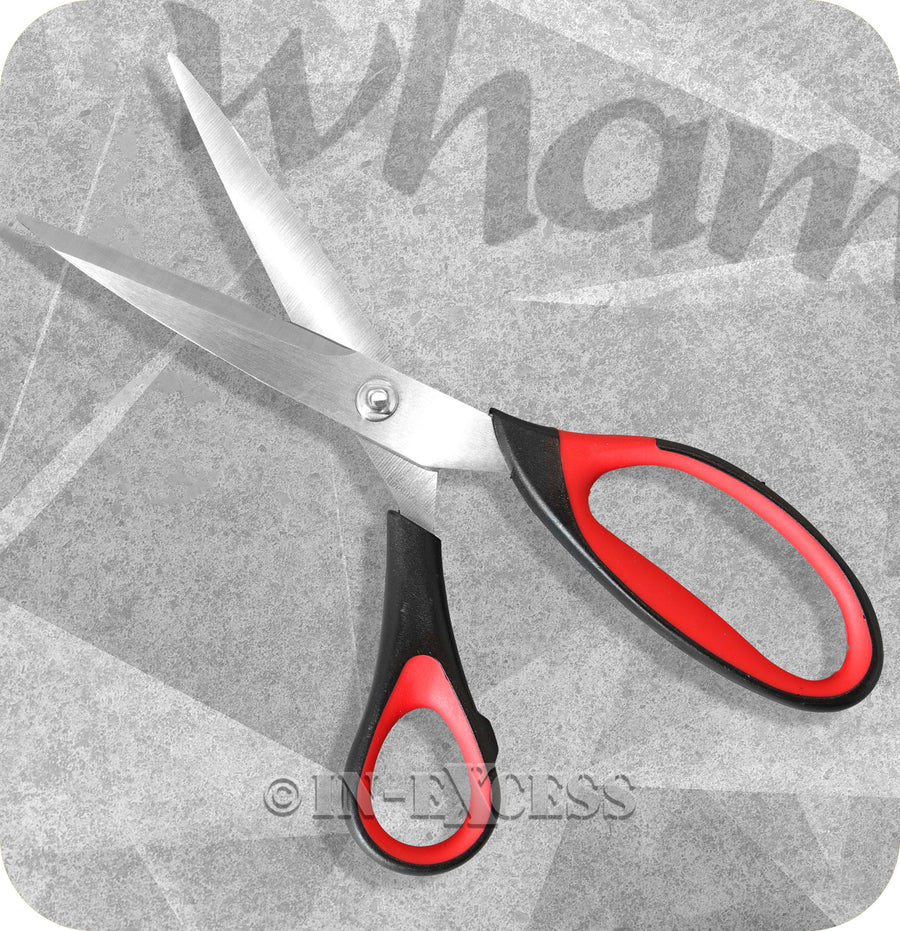 Wham Cook Stainless Steel Non-Slip Grip Scissors - Pack of 2