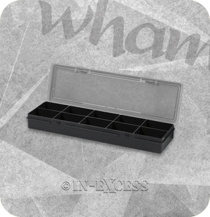 Wham Homeware Hobby Craft Bits & Bobs Rectangular Storage Organiser Box - Graphite & Clear