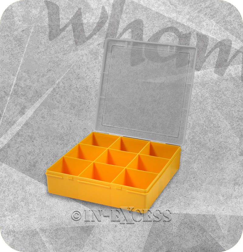 Wham Homeware Hobby Craft Bits & Bobs Square Storage Organiser Box - Sunflower & Clear