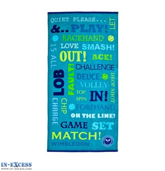 Official Christy Wimbledon Tennis Beach Bath Towels Cotton 75x150cm