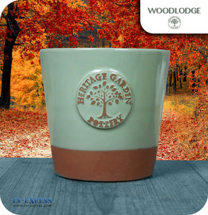 Woodlodge Heritage garden Pottery Scented Outdoor Indoor Candle - With Ceramic Flower Pot