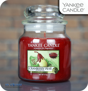 Yankee Candle Scented Medium Jar Cranberry Pear - 411g