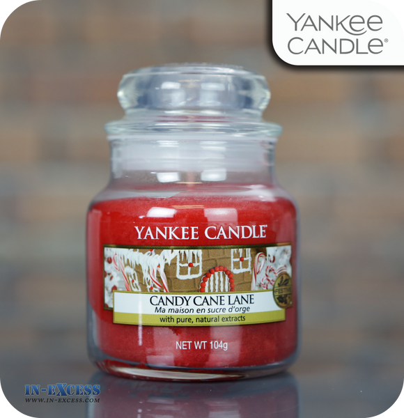 Yankee Candle Scented Small Jar Candy Cane Lane - 104g