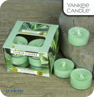 Yankee Candle Scented Tea Lights Aloe Water - Pack of 12