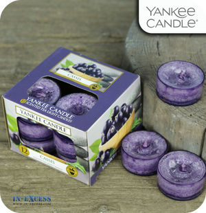Yankee Candle Scented Tea Lights Cassis - Pack of 12