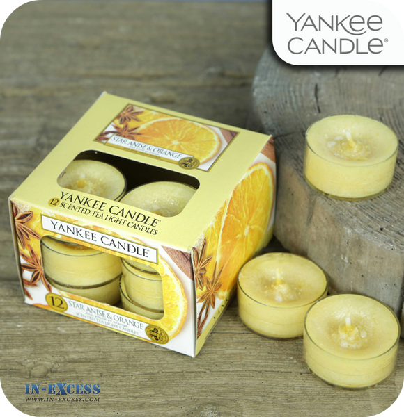 Yankee Candle Scented Tea Lights Star Anise & Orange - Pack of 12