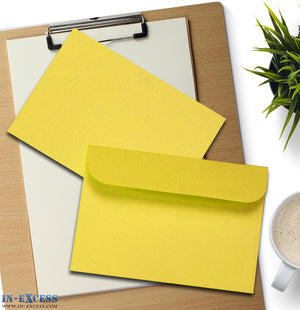 Yellow Peel & Seal Envelopes C6 Size Pack of 25