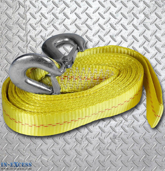 Yellow Tow Rope 2000kg Break Strength Approx 16ft- 4880mm
