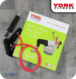 York Fitness Core Gym Ball Set with Base and Tubes