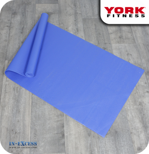 York Fitness Yoga Exercise Mat - Blue