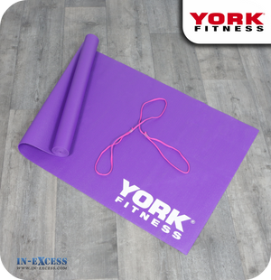 York Fitness Yoga Exercise Mat - Purple