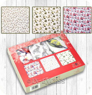 ZOE 100% Cotton Baby Muslin Square Gift Set - Woodland Themed