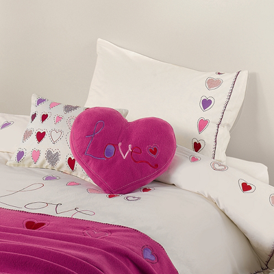 John lewis love hearts duvet cover set
