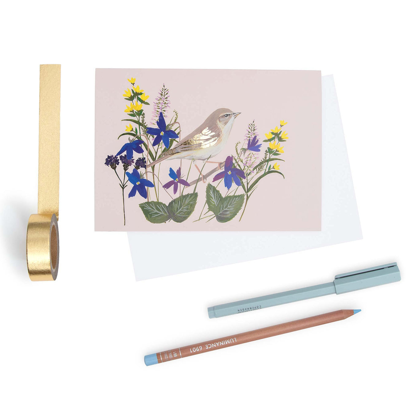 Willow Warbler blank card