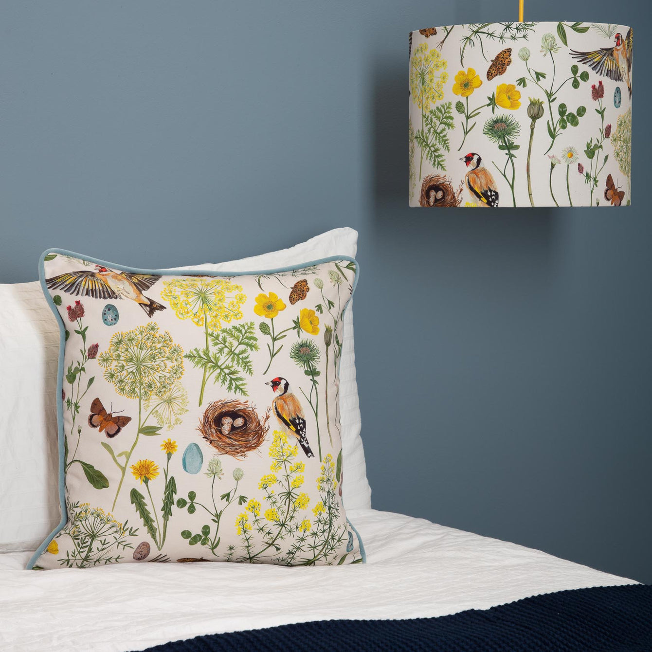 Goldfinch and Buttercup Lampshade
