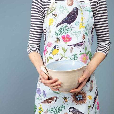Cornish Garden Birds Apron