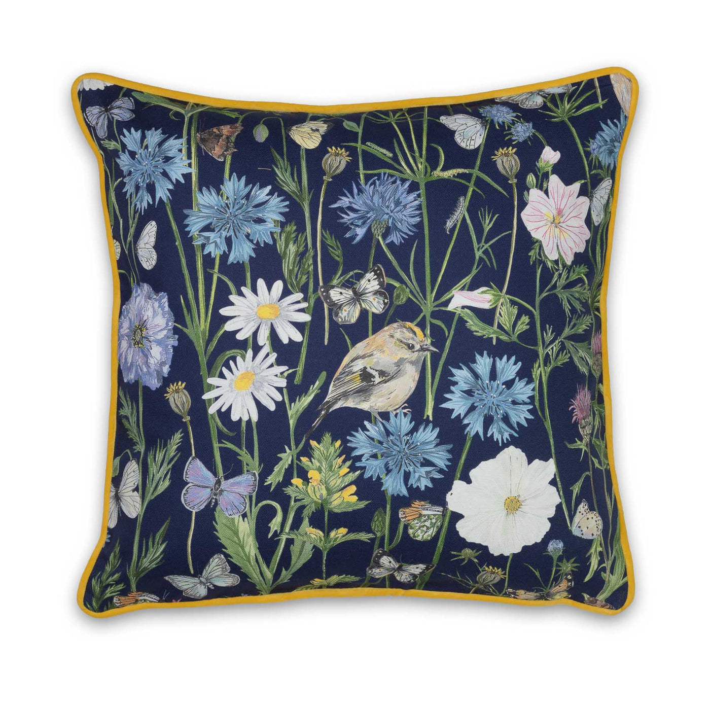 Goldcrest and Cornflower - Navy