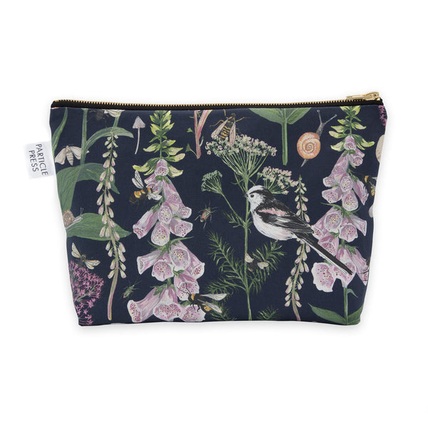Longtail and Foxglove Large Wash Bag - Navy