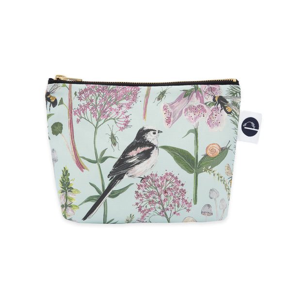 Longtail and Foxglove Small Make-up Bag - Mint