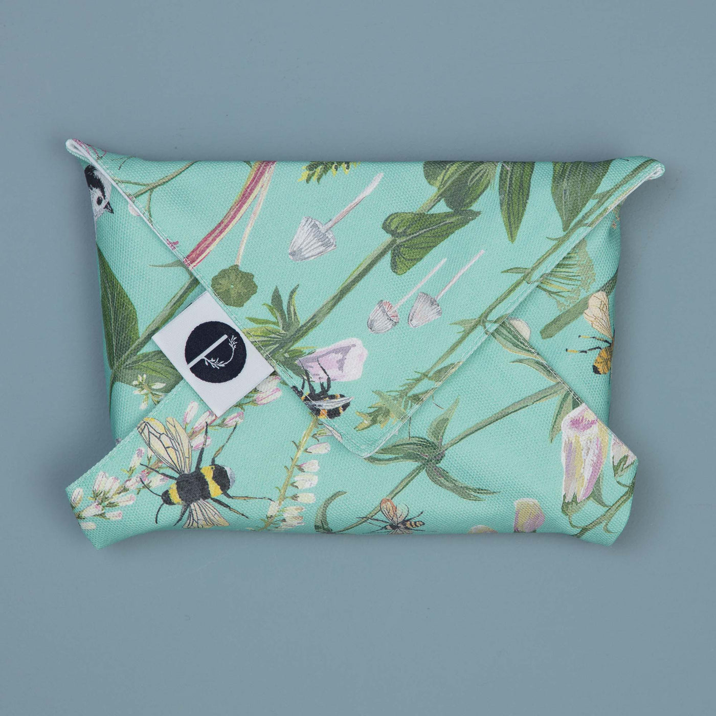 Longtail and Foxglove Sandwich Wrap - Turquoise