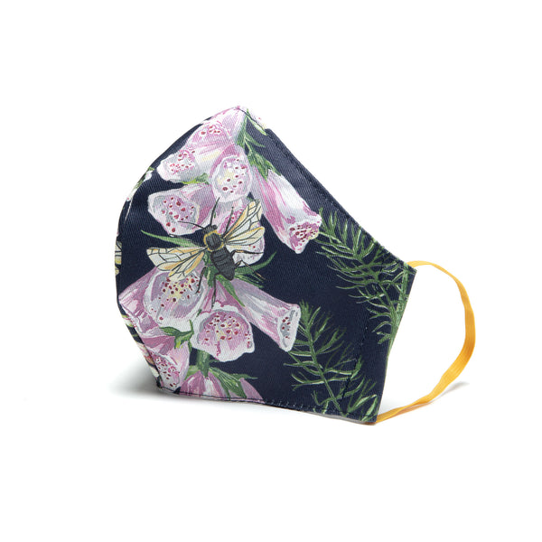 Longtail and Foxglove adjustable face covering - Navy