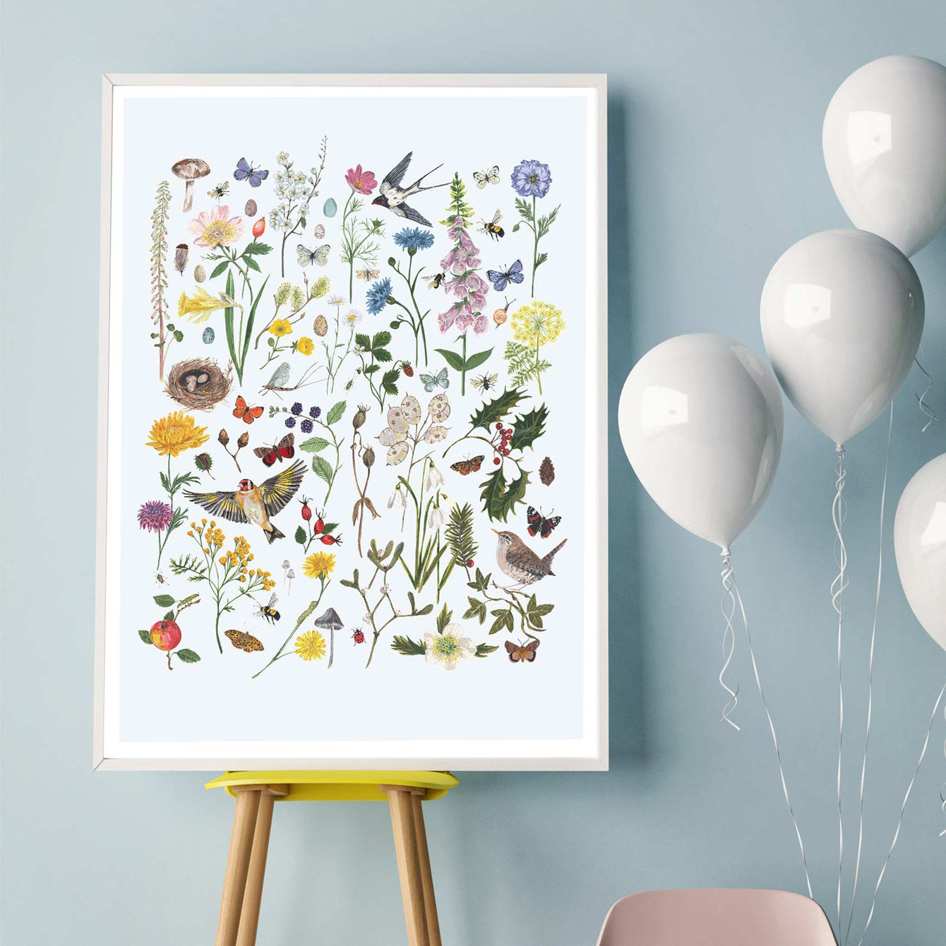 Spring, Summer, Autumn, Winter - Archival digital giclee print - Light grey