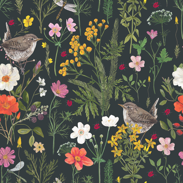 Wren and Ladybird fabric by the metre