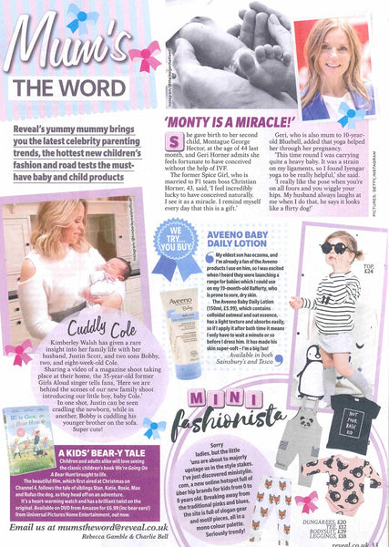 Reveal magazine features Ministylin in their Mums the word section as new uber cool kidswear retailer