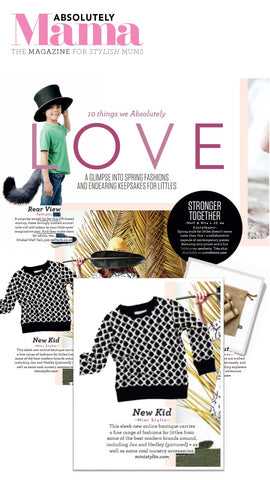 Ministylin in the press features in Absolutely Mama magazine and womens weekly Reveal Magazine Mums the word