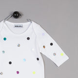 Shapes of Things Baby jumpsuit white polkadot