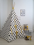 Wildfire Cross print yellow trim teepee