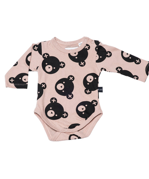 Huxbaby falling bears long sleeve onesie