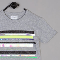 Shapes of Things Get in line grey kids t-shirt