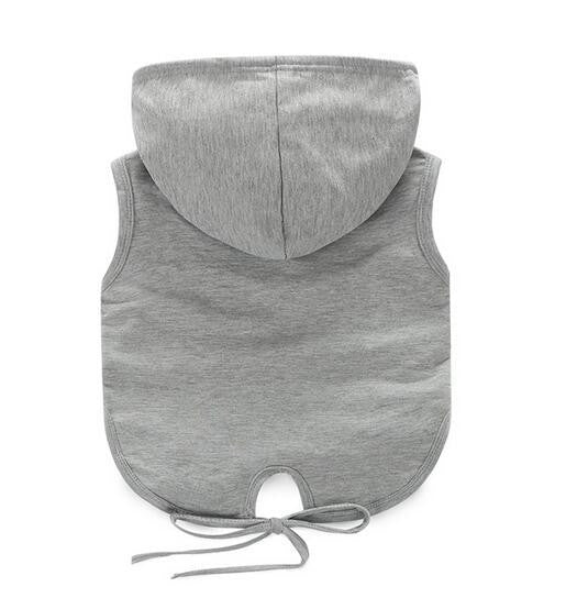 ministylin children's grey hooded drawstring top