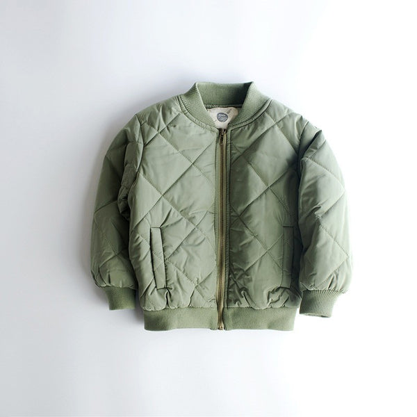 Khaki bomber jacket with pockets
