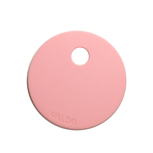 Blush pink circle teether