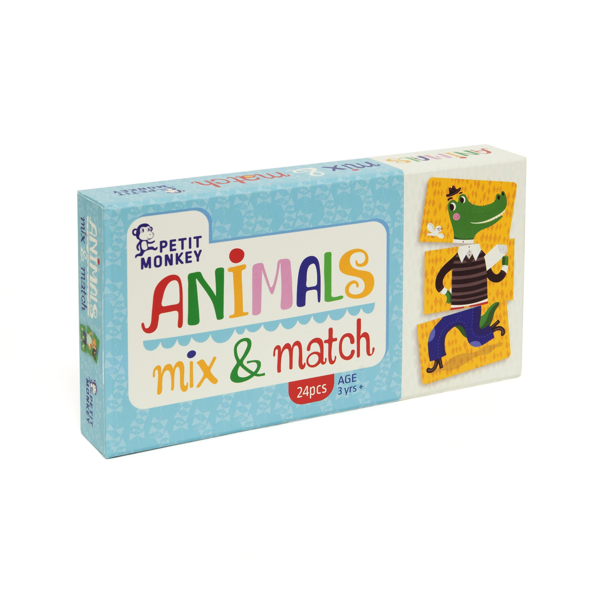 Animals mix and match game 3yrs+