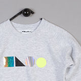 Shapes of Things Kids sweatshirt grey logo shapes