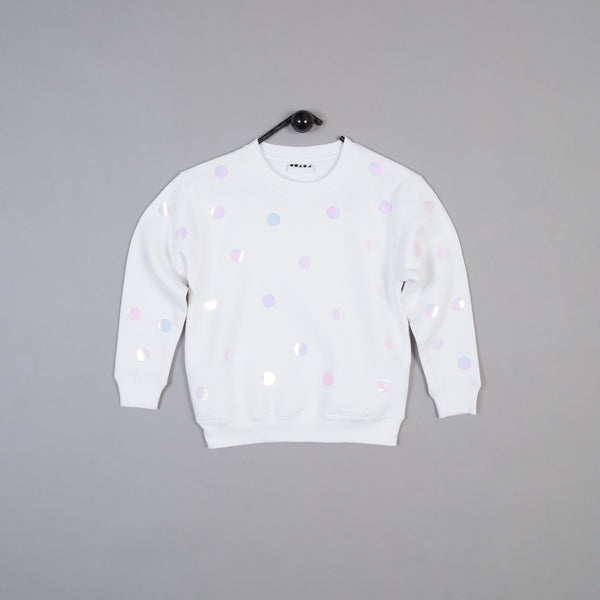 Shapes of Things Kids sweatshirt white polkadot