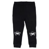 Ministylin black leggings with skull knee print